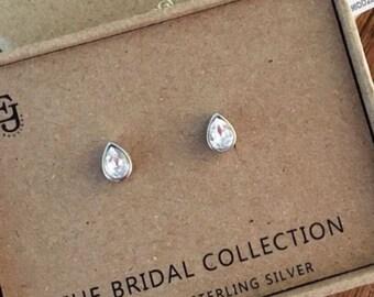 Swarovski Crystal Teardrop Bridal Earrings