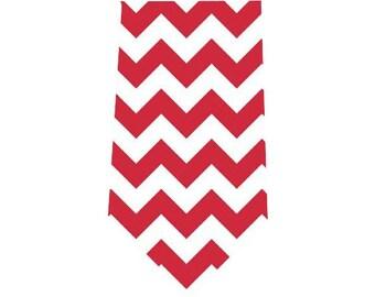 Boy's Tie Red Chevron Child's Necktie