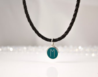 Magic charm jewelry RUNE EHWAZ Silver rune hot cloisonne pendant esoteric jewelry esoteric anklet authors jewelry rune anklet