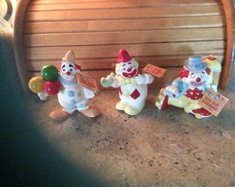 Clown Figurines, 1950,s, Jim Willoughby, Big Top