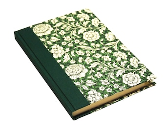 Large Address Book, green floral pattern, A5 phone book, large telephone directory book, gift idea for housewarming, gift idea for wedding