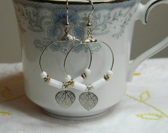 Bead Hoop Dangle Earrings