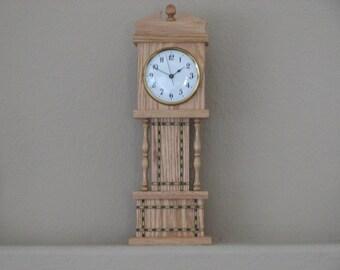 Inlayed Mini Grandfather Clock