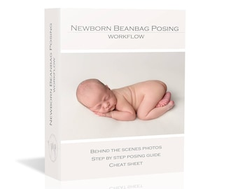 30% OFF Newborn Beanbag Posing Workflow - guide + BONUS cheat sheet