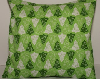 12x12 Green Christmas Tree Accent Pillow