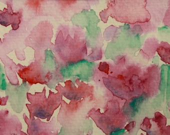 Purple Field - Original Watercolor