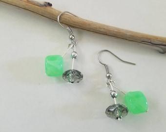 Green & Grey Earrings
