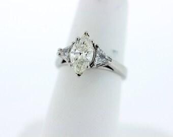 Platium Marquise Diamond Ring