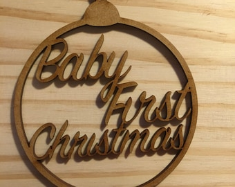 Christmas Bauble Gift Tag; Baby First Christmas bauble