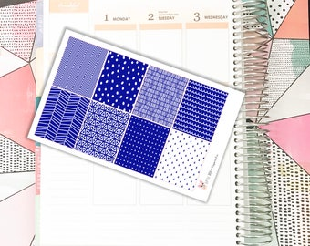 Navy Full Box Squares // Planner Stickers