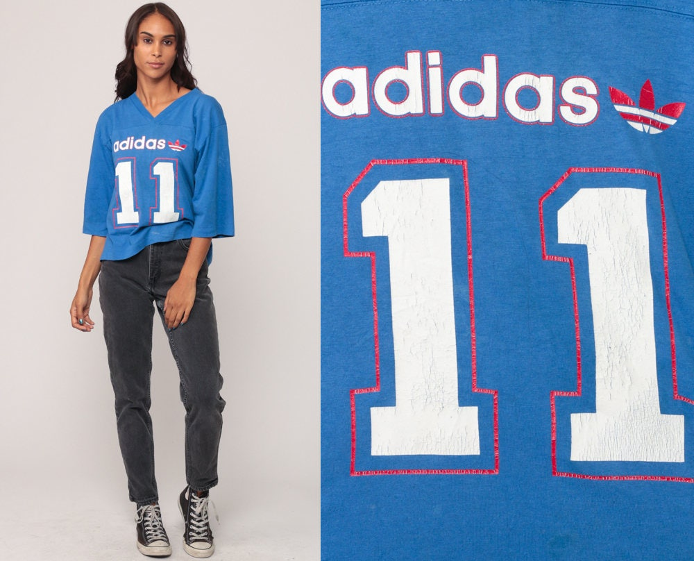 Adidas Camiseta cuello V camiseta Football t shirt 11 número de camisa