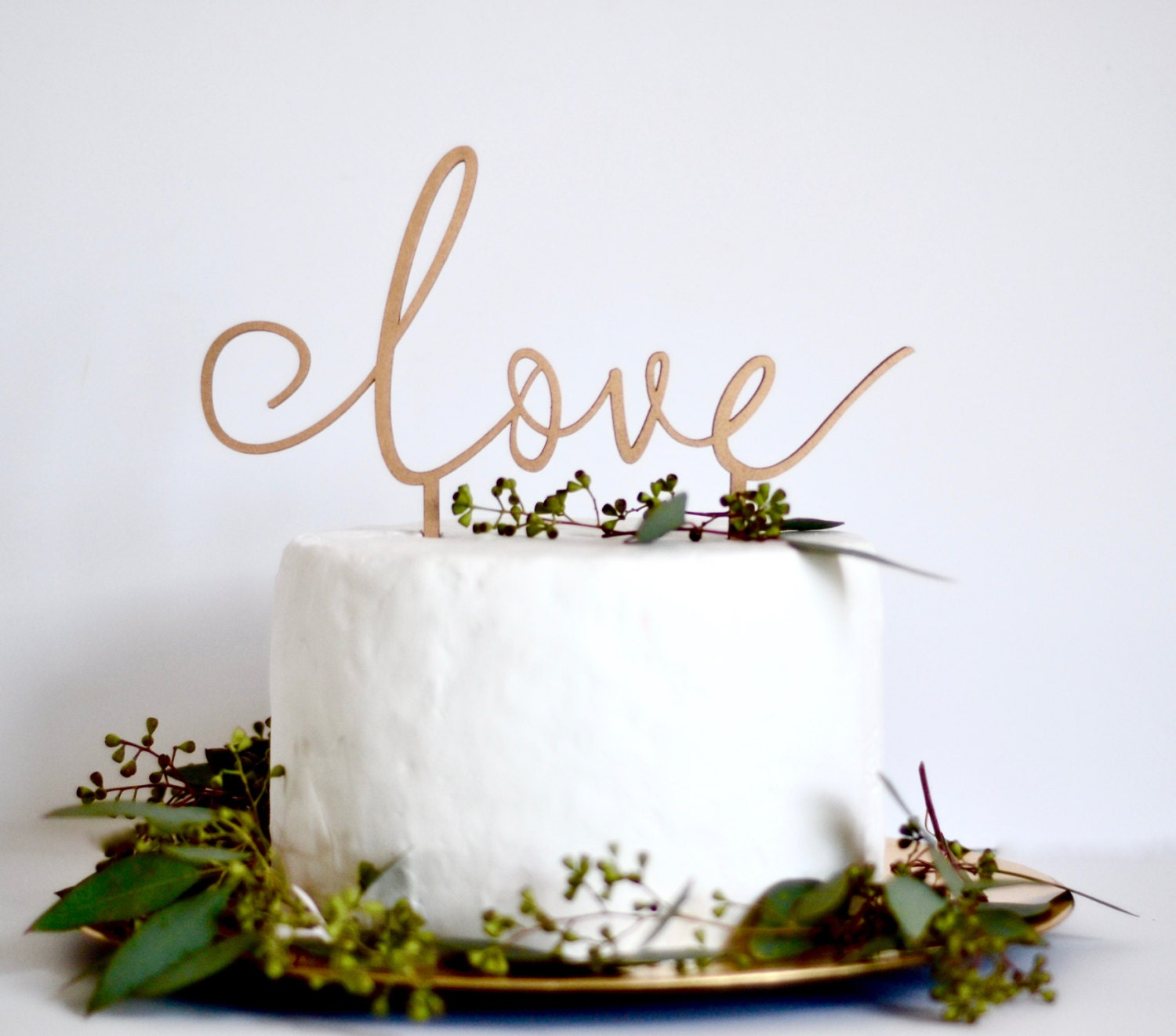 Love Cake Topper. Wedding Cake Decoration. Wedding Sign