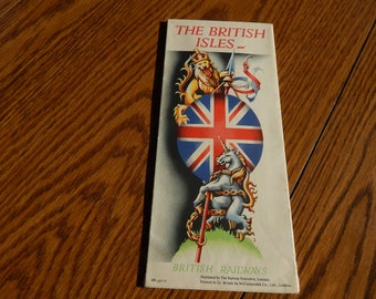 Vintage British Railways Map of the British Isles