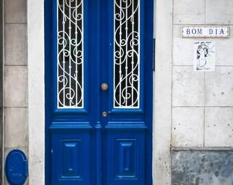Lisbon, Portugal, Door, Blue, Travel, Fine Art, Wall Art, Lisbon Photography, Lisbon Wall Art, Lisboa, Facade, Door Photos