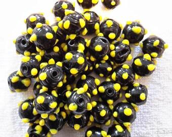 Vintage Venetian glass trade beads (skunk beads)