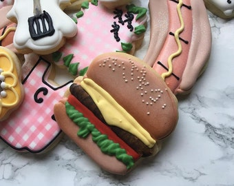 LOCAL ONLY Hamburger Cookies