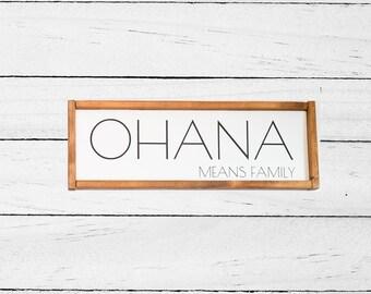Ohana means family - Wall hanging - Ohana Quote - Lilo and Stitch