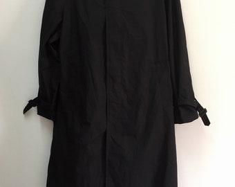 Henry Polmer Black Trench Coat/Long Coat