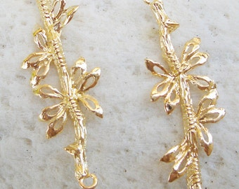 4pcs of gold plated earring chandelier 14x42mm