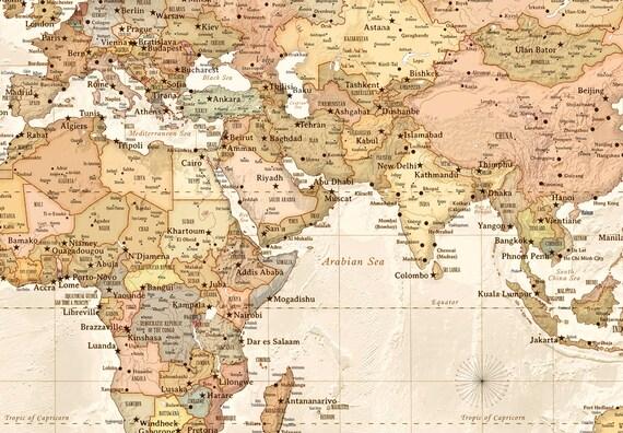 Modern World Map X Canvas Map World Map - Large world map antique