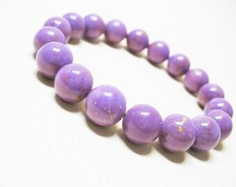 Phosphosiderite Bracelet Healing Bracelet Calming Bracelet Spiritual Bracelet Balance Bracelet Lilac Bracelet 10mm Phosphosiderite Beads