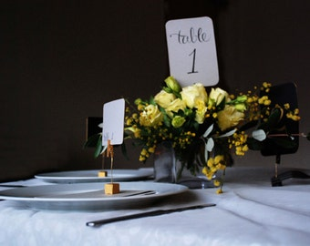 Printable Wedding Table Numbers 1-12 - Instant download
