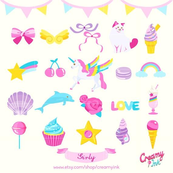 girls love cute digital vector clip art girly digital rh etsy com girl clipart transparent girly clipart
