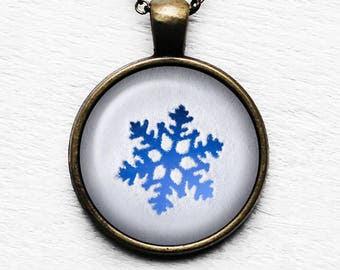 Frozen Snowflake Pendant and Necklace