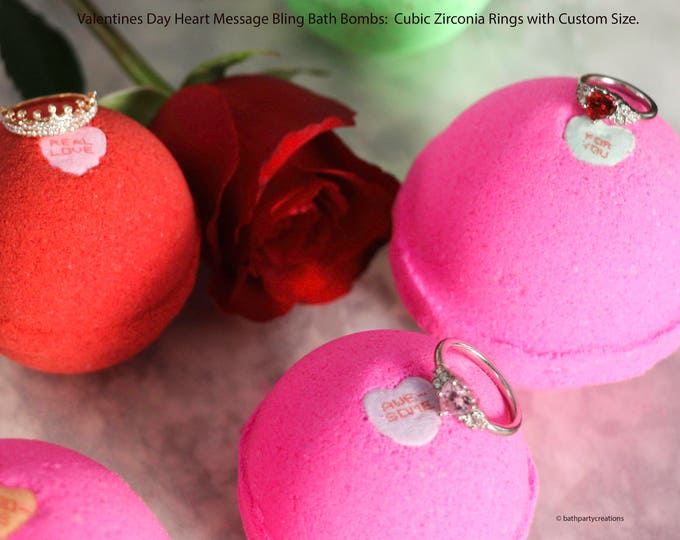 Conversation Hearts Foaming, Fizzing, Color Changing Cubic Zirconia Bling Bombs  Gift for Her, Gift for Daughter, Gift for Wife