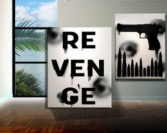 Revenge Modern Art Prints or Ready to hang Canvases