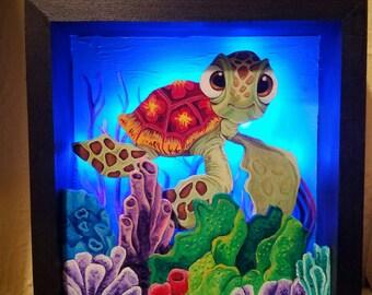 Squirt Finding Nemo shadowbox