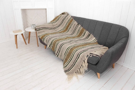 SHEEPWOOLBLANKETS. SMALL THROW FOR CHAIR ...