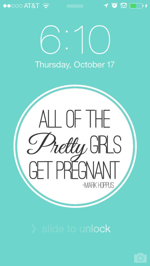 Items Similar To Pretty Girls Get Pregnant