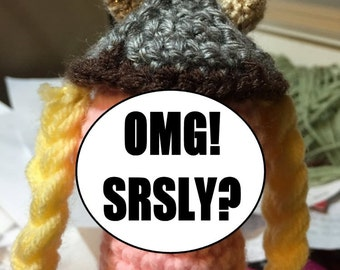 Inappropriate Crocheted Man-Part with Special Features