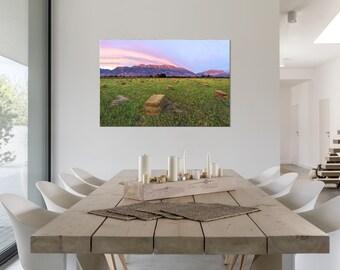 Large Wall Art, Oversized Art Print, Large Canvas Art, Large Metal Print, Large Farm Art Print, Large Mountain Print, Oversized Sunset Art