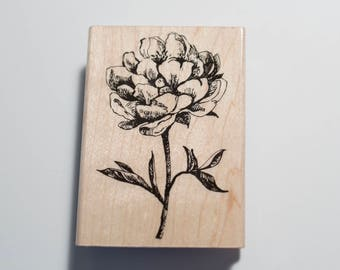 Classic Tea Flower stamp by Hero Arts