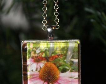 Handcrafted Monarch Butterfly Original Wearable Art Photo Necklace