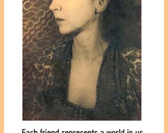 Each friend represents a world in us - Anais Nin Quote Poster