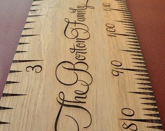 SuperLux Wooden Height Chart In Solid English Oak