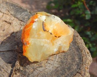 XXXL 465ct Raw Mexican Fire Opal Honey yellow cream orange  - Reiki Wicca Pagan Geology gemstone specimen