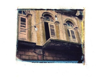 Shutters -  Archival Print of an Original Polaroid Transfer, Signed Limited Edition 8x10 Matted