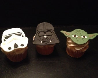 Star Wars Inspired Fondant Cupcake Toppers