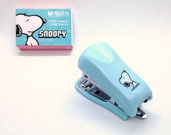 M & G Snoopy mini cute kawaii kitsch agrafeuse et agrafes ensemble