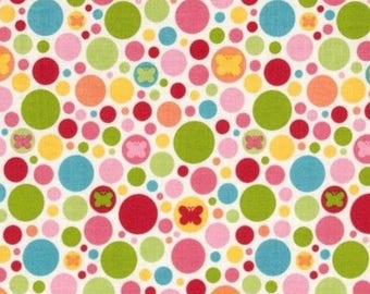Polka dot multicolored patchwork Riley Blake fabric