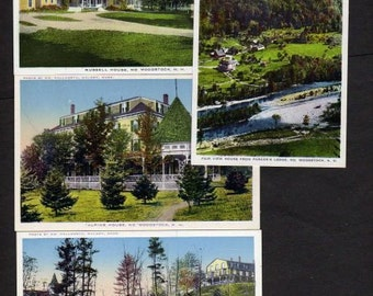 New Hampshire Postcards, 4, N. Woodstock New Hampshire Postcards,Postcards, UNUSED Postcards,NH Postcards,Wedding Guestbook, Save the Date