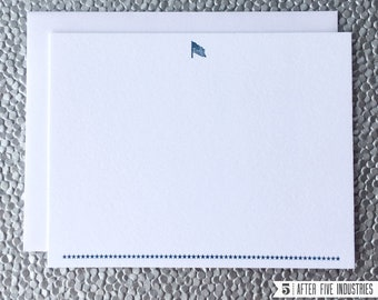 American Flag — Letterpress Note Cards, Set of 6