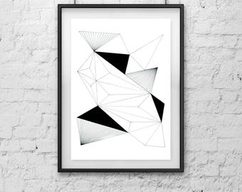 Physical Print ///  Geometric Art 1