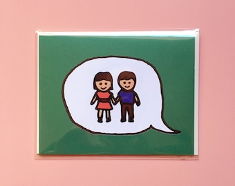 Emoji Cards! - Girl and Boy Holding Hands