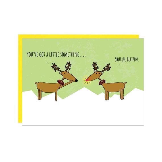 Funny christmas card illustrated christmas card funny funny christmas card illustrated christmas card funny holiday card merry christmas greeting card sarcastic christmas card xmas card m4hsunfo Image collections