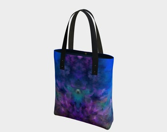 Coral Reef,purse,bag,tote,hand painted,designer,makeup,bags,cases,suitcase,vegan leather,luggage,baby